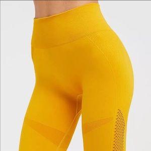Yellow seamless yoga pants